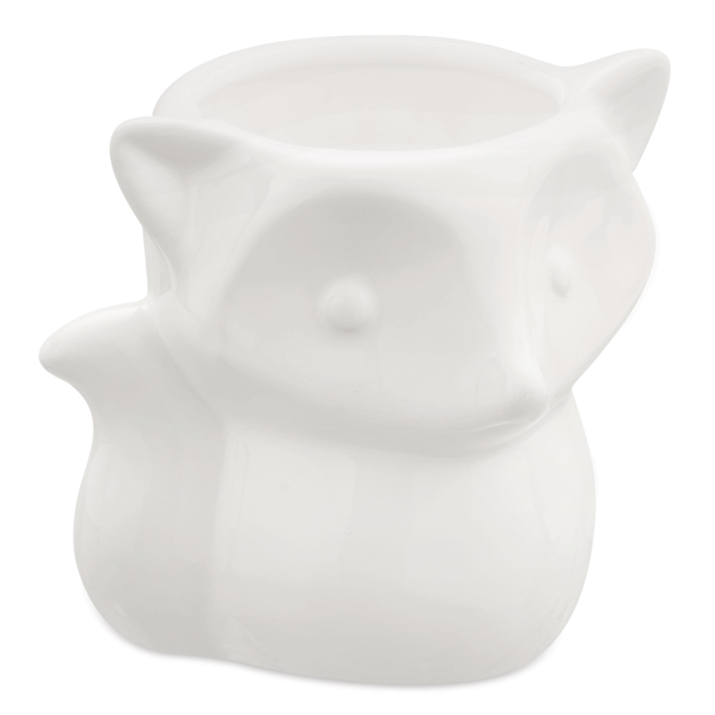 Cachepot em Cerâmica Raposa Pequena Branco