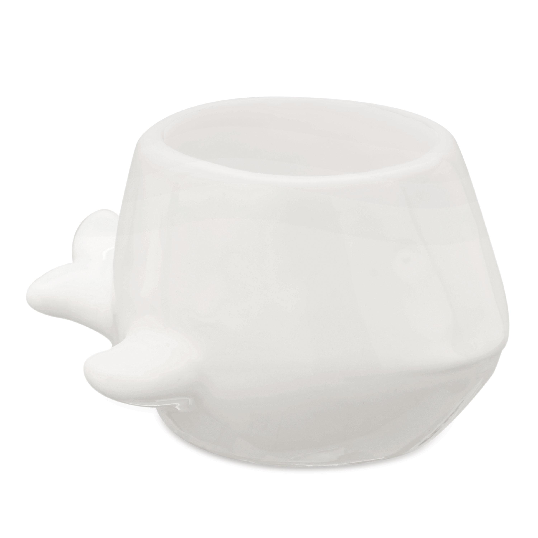 Cachepot em Cerâmica Baleia Pequeno Branco