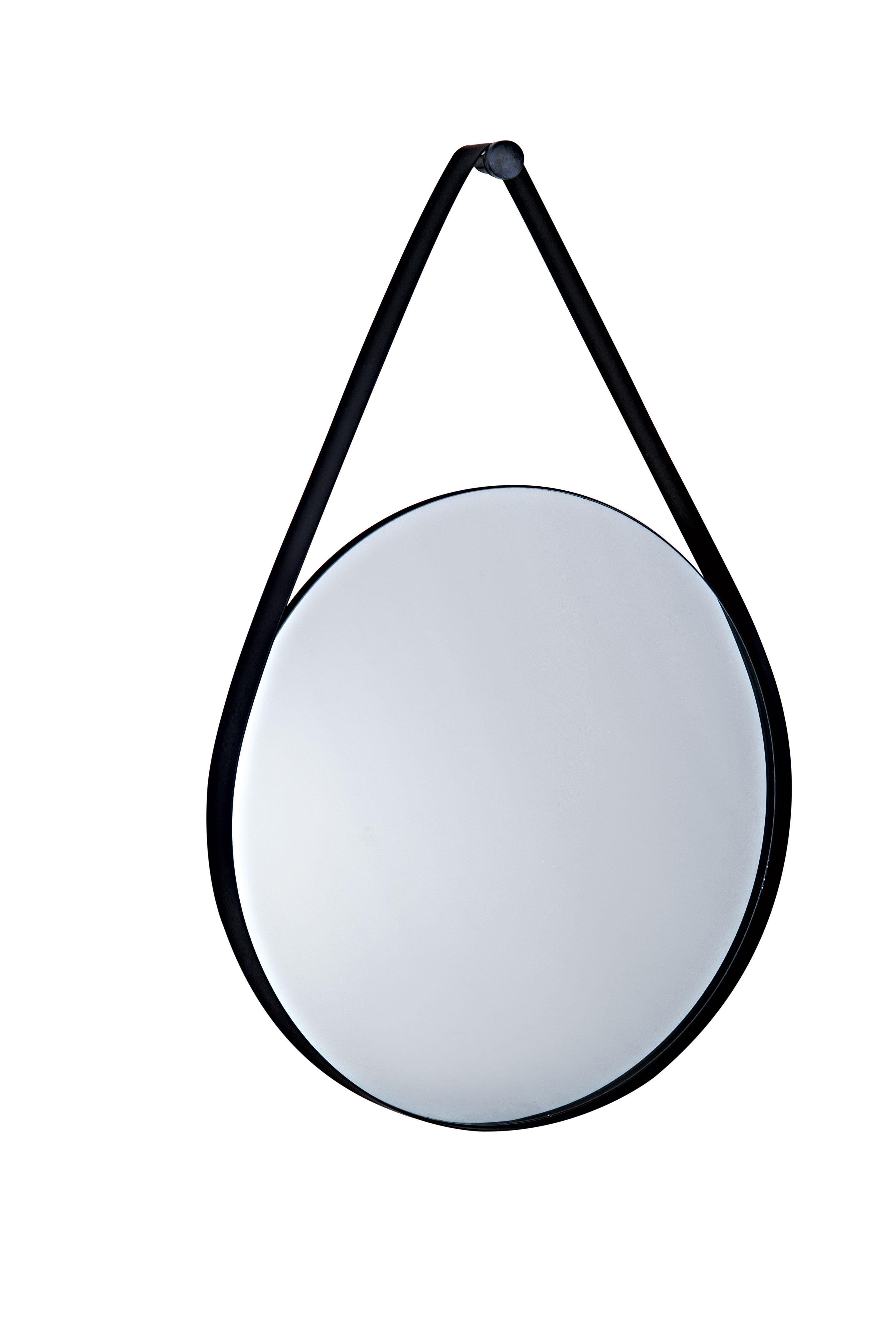 Espelho Preto em metal 61 cm x 40,5 cm x 3,5 cm