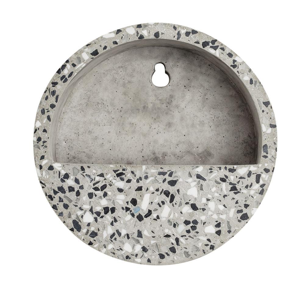Terrário De Parede Areia Em Cimento - 5 x 15 x 15 cm