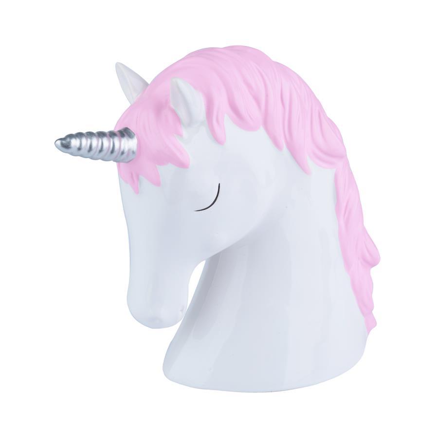 Cofrinho Cerâmica Sleepy Unicorn Branco/Rosa