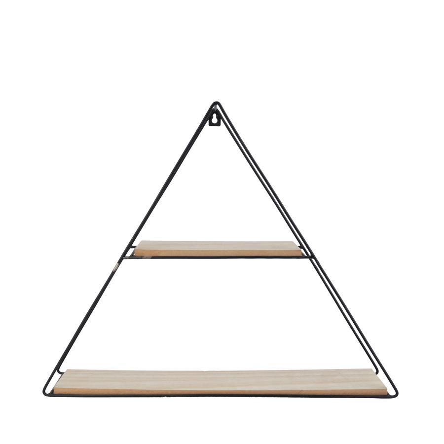 Prateleira Metal/Madeira Geo Forms Triangle Preto