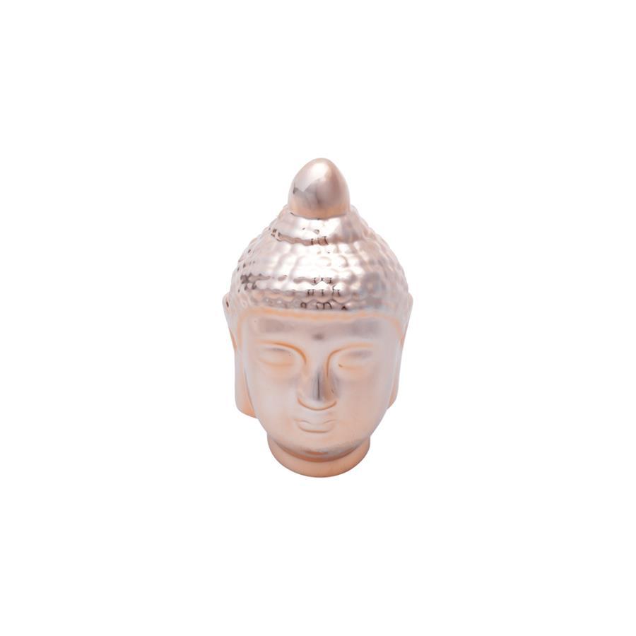 Decoração Cabeça de Cerâmica Buda Head Rose
