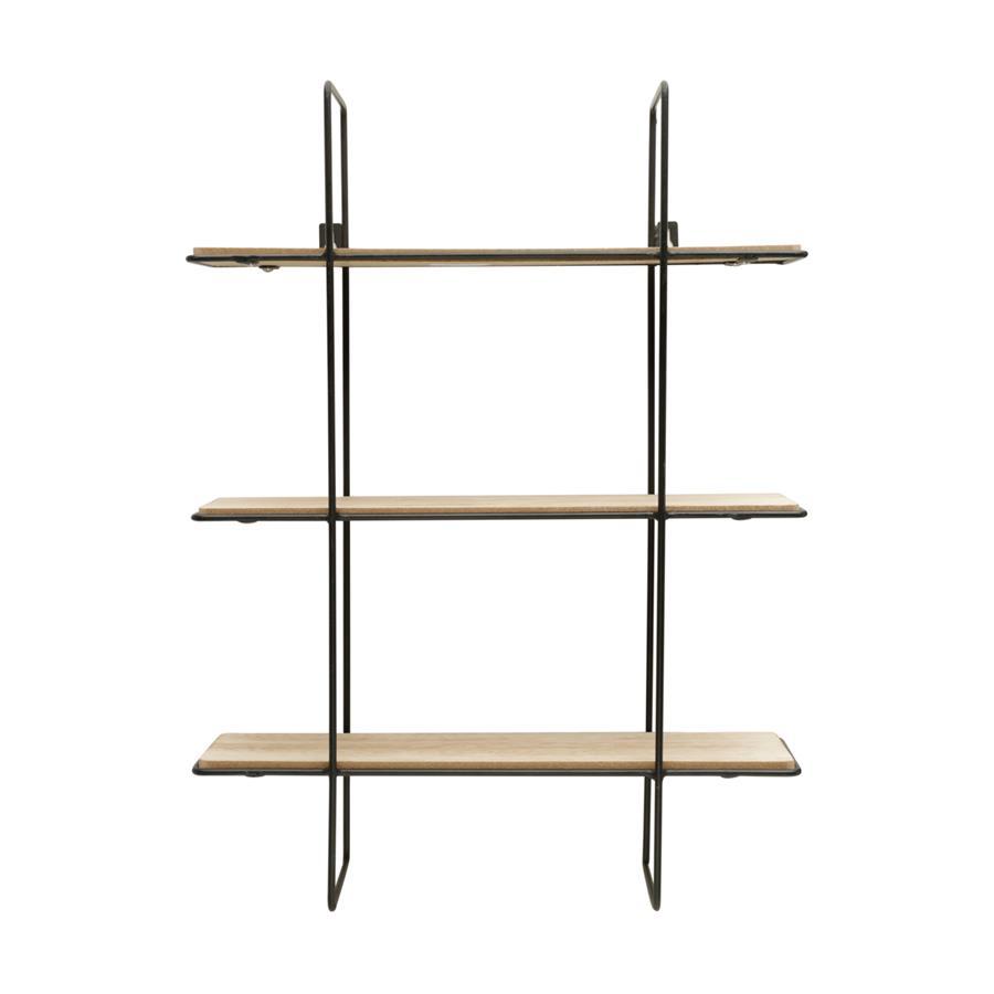 Prateleira Metal/Madeira Geo Forms Three Floors