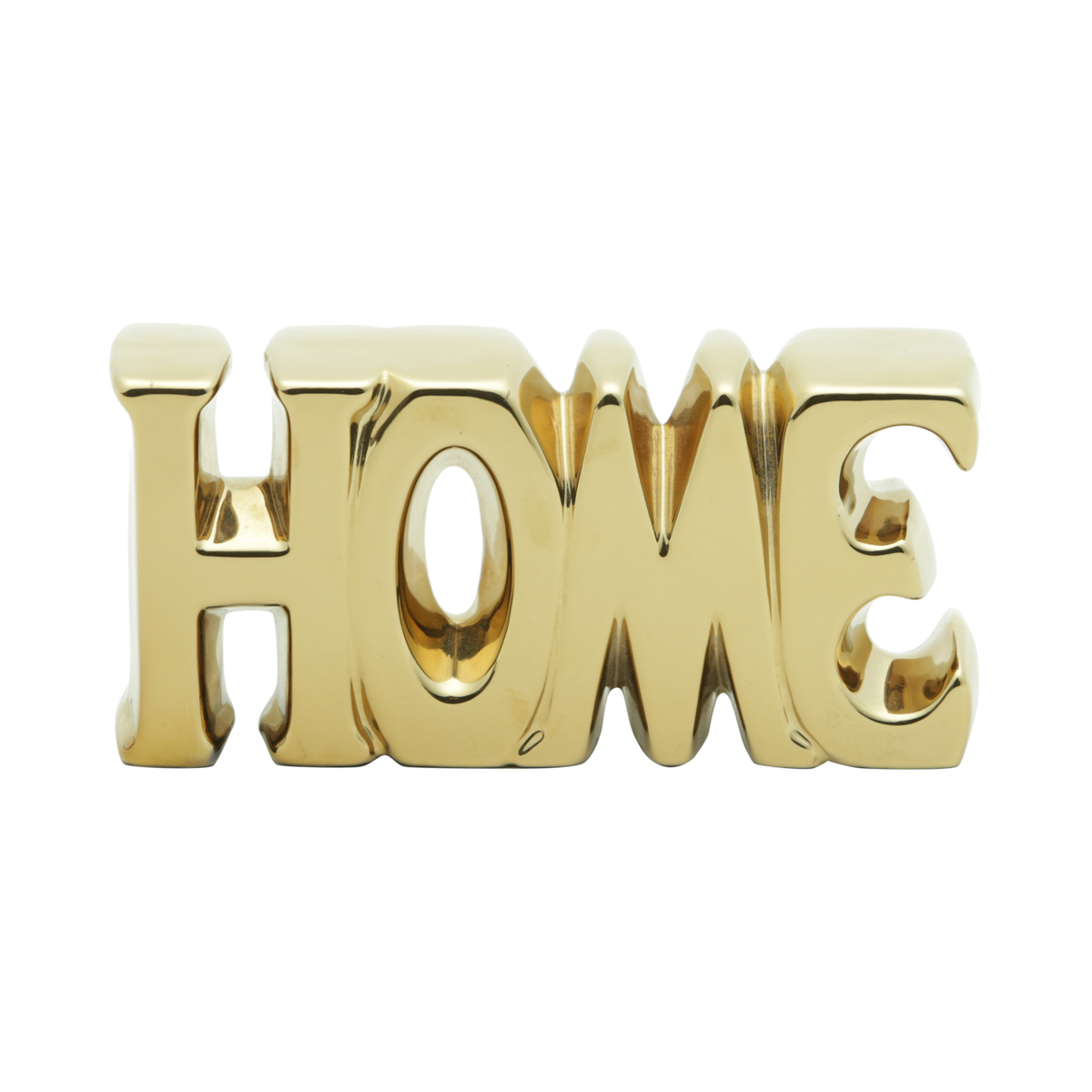 Decor Cerâmica Capslock Letter Home Dourada Peq 18,5X3,5X9Cm