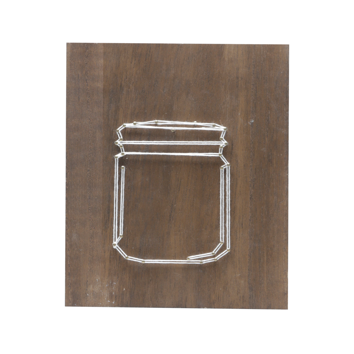 Quadro Madeira String Art Vase Fd Marrom