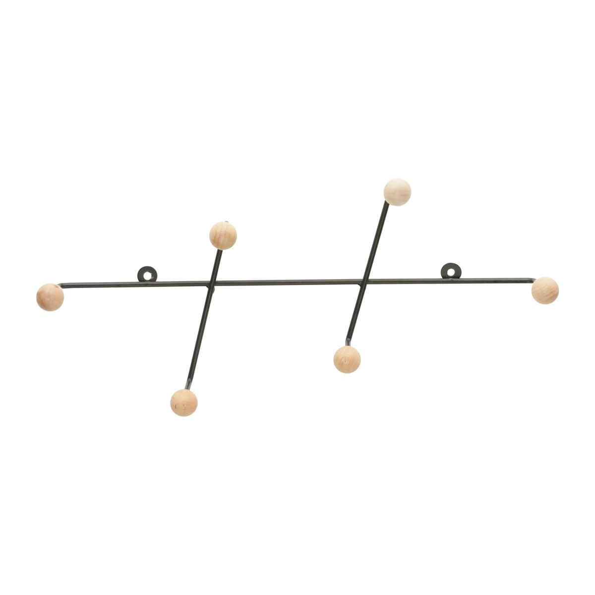 Cabideiro Metal Vertical Slant Preto 15 x 6 x 32 cm