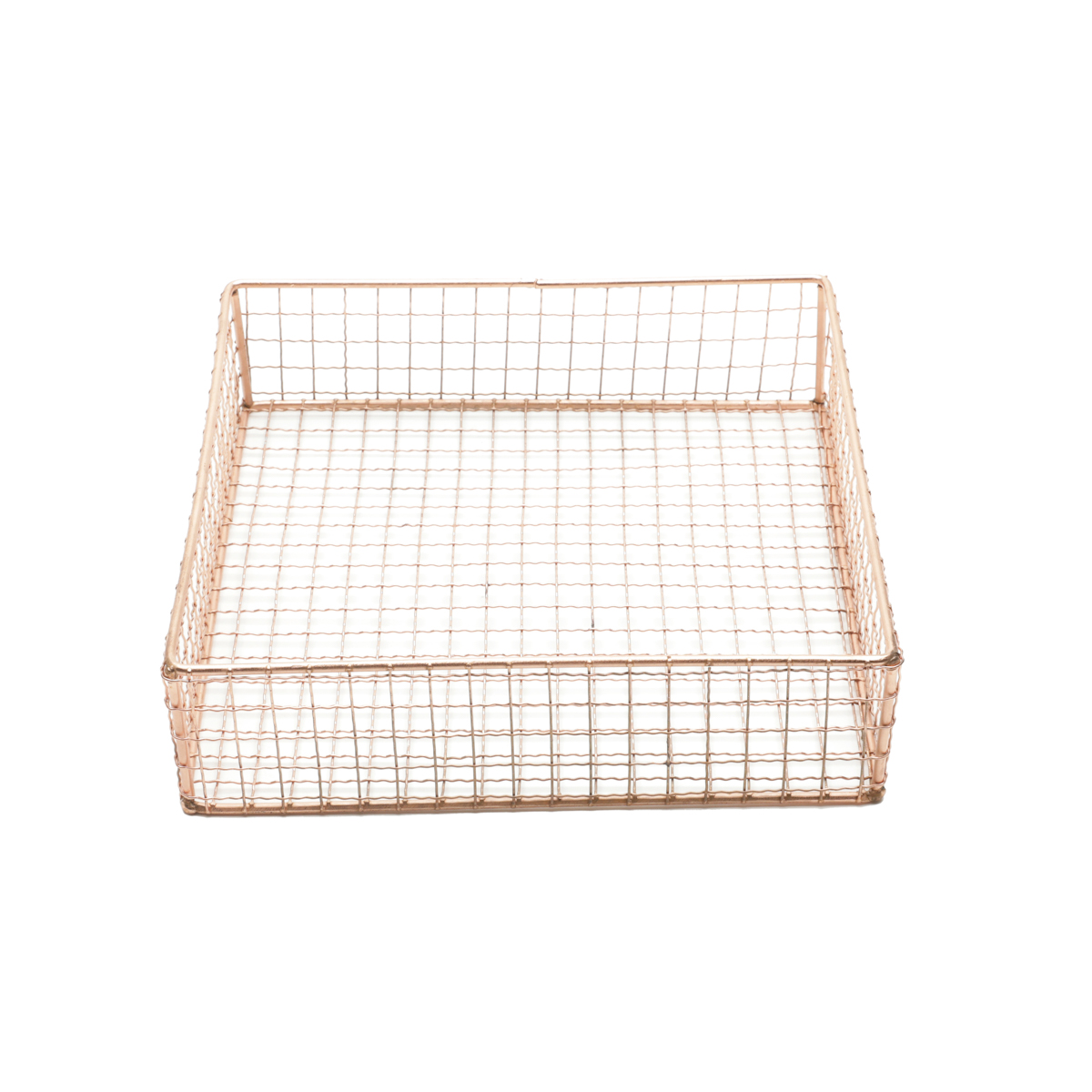 Cesta Metal Square Wire Cobre Gde 2.5 x 2.5 x 20 cm