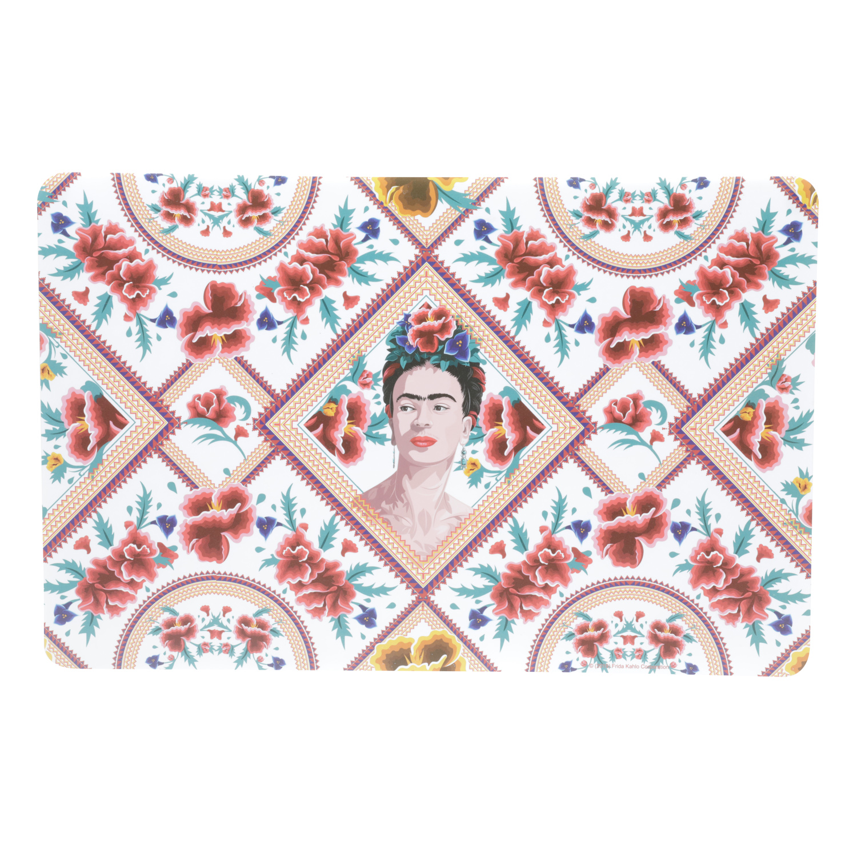 Jogo Americano Plástico Fk Red Face And Flowers Colorido 0.1 x 43.5 x 28.3 cm - 4 peças