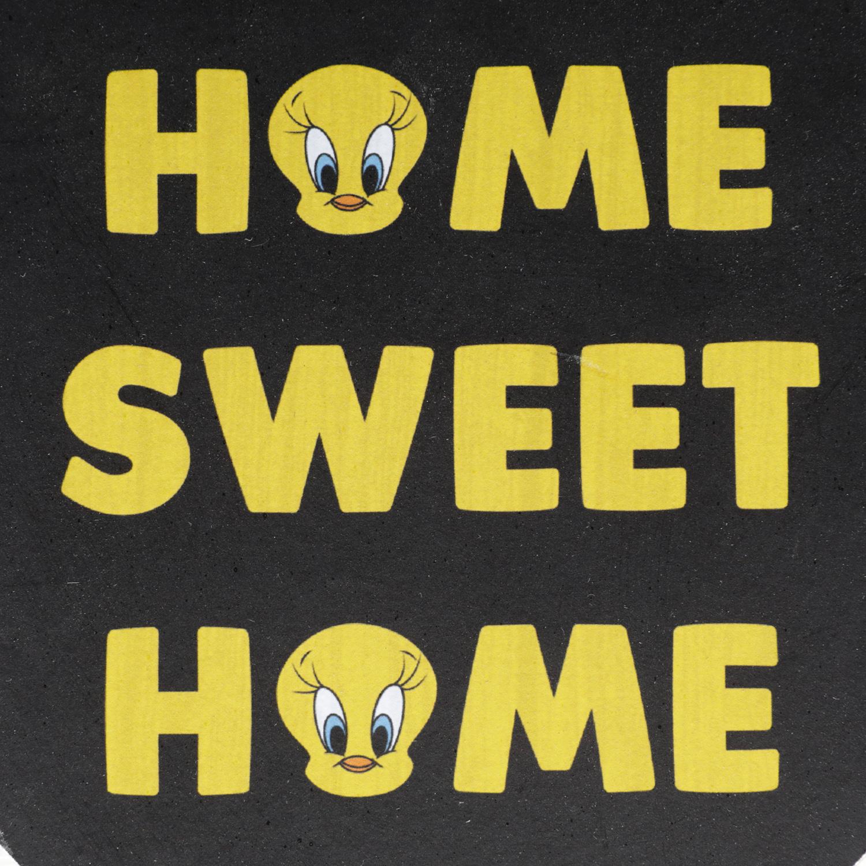 Quadro Madeira Wb Hb Heart Sweet Home Tweety Fd Preto 20,5 x 15,5 x 2,2 cm