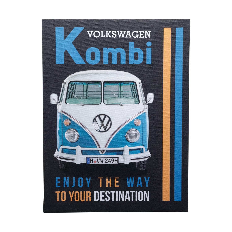 Tela Vw Kombi Enjoy The Way Fd Preto 40 x 1.5 x 30 cm