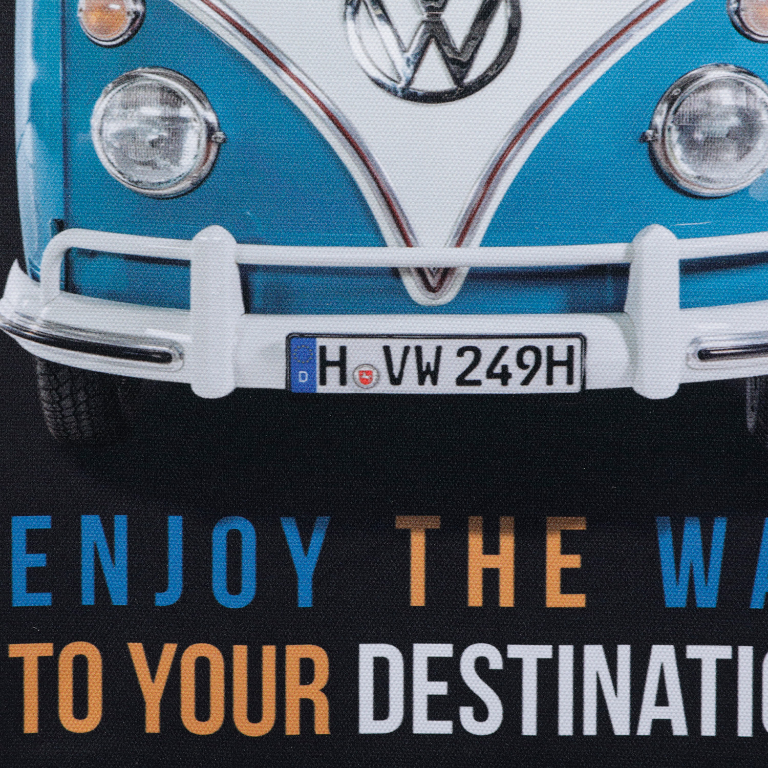 Tela Vw Kombi Enjoy The Way Fd Preto 40 x 1.5 x 30 cm