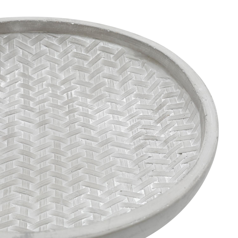 Centro De Mesa Concreto Roundond Plate Cinza 5 x 24 x 24 cm