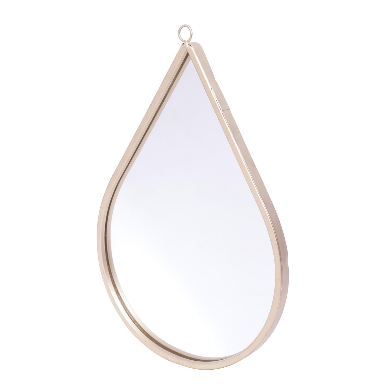 Espelho Parede Metal Drop Shine Frame Dourado 30.5 x 1.4 x 20 cm