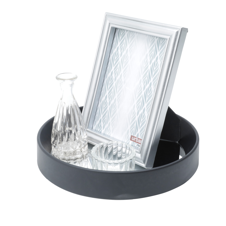Jogo Bandeja Plástico Porta Retrato White Visions Branco 22 x 22 x 19 cm