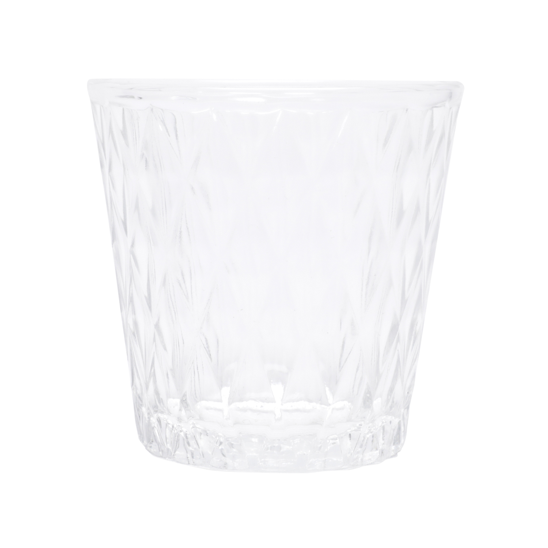 Jogo de Copos 4 Pcs Bandeja Madeira Com Castiçal Vidro Space Of Light Preto Transparente 3 x 3 x 17 cm