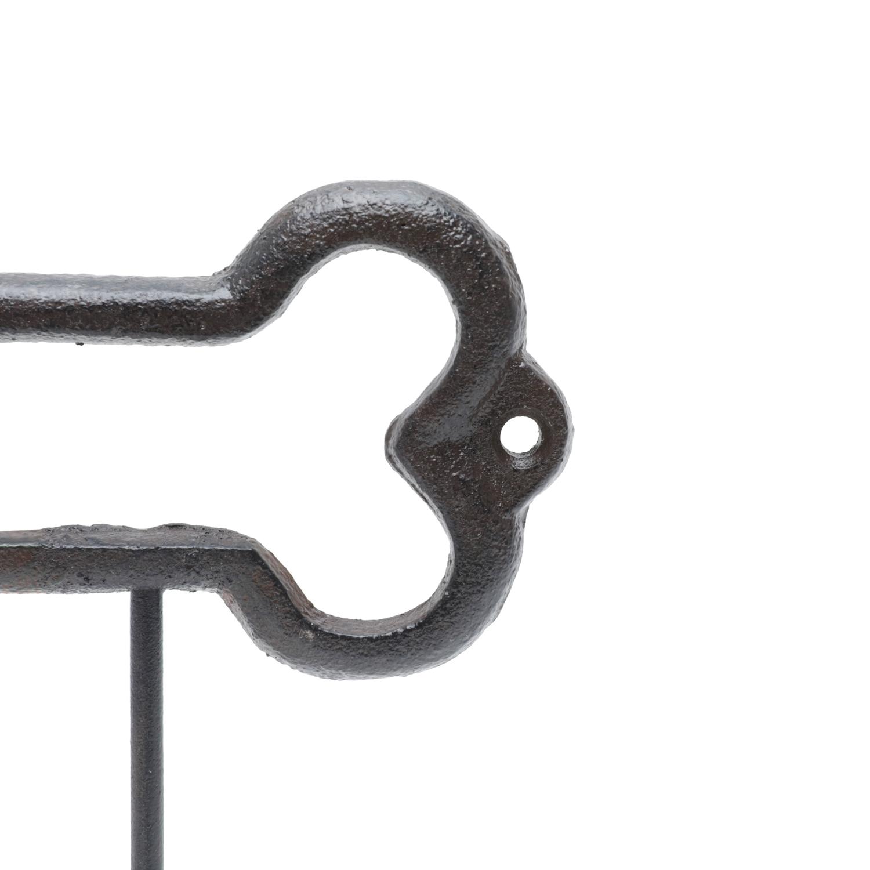 Cabideiro Ferro Pet Bone 2 Ganchos Marrom