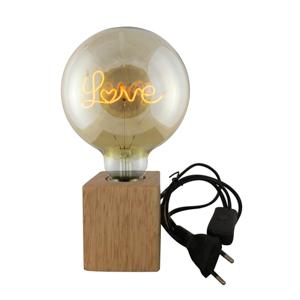 Luminária Madeira Led Love Transparente 12,5X12,5X17,5Cm - 110V