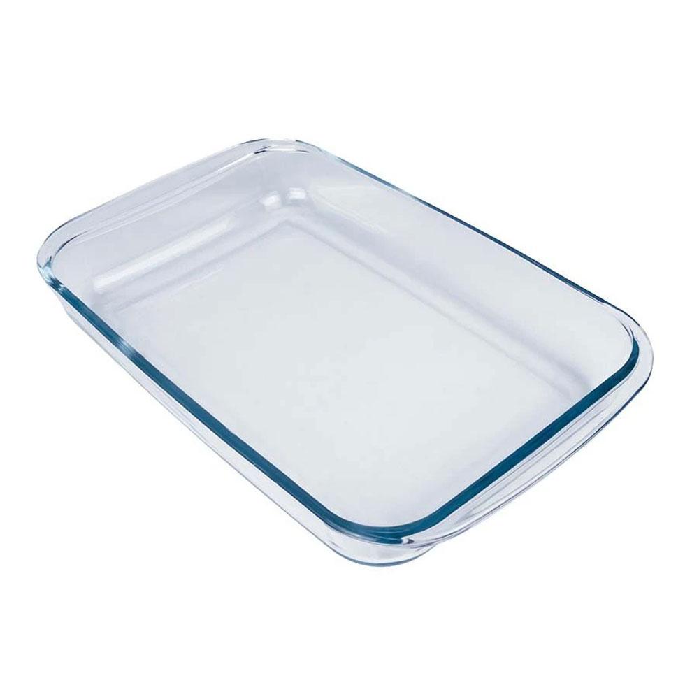 Assadeira Refratária Retangular Mor Glass Transparente Mor