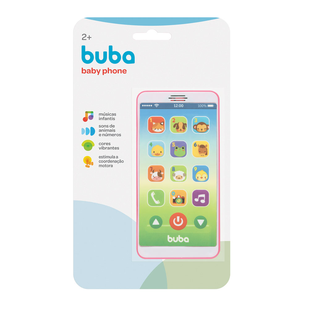 Baby Phone Rosa- Buba - 6842