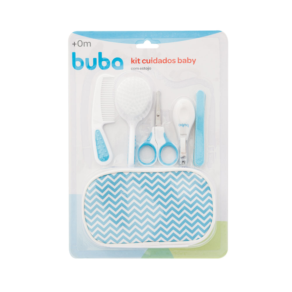 Kit Cuidados Baby Com Estojo Buba Azul - 07285