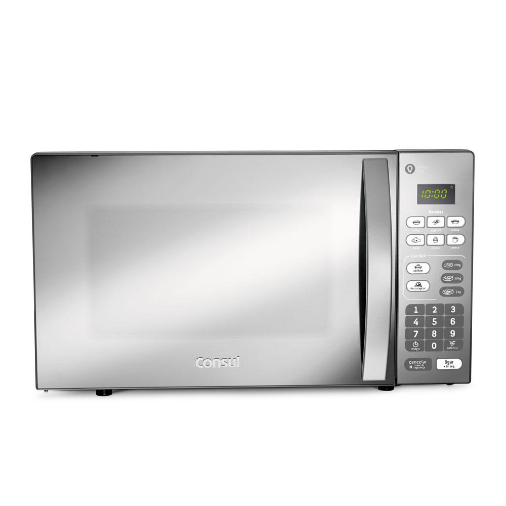 Micro-ondas Consul 20L com Menu Uso Fácil Prata - CM020BF - 110V