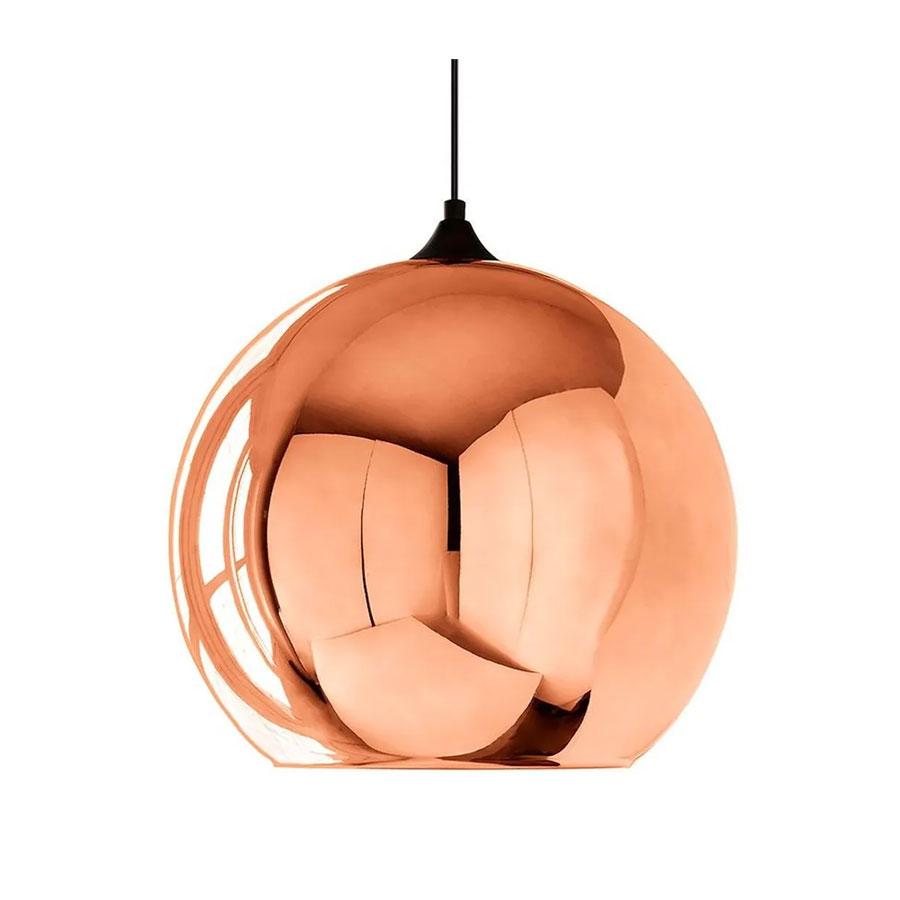 Pendente Globo em Vidro Bronze Rosé