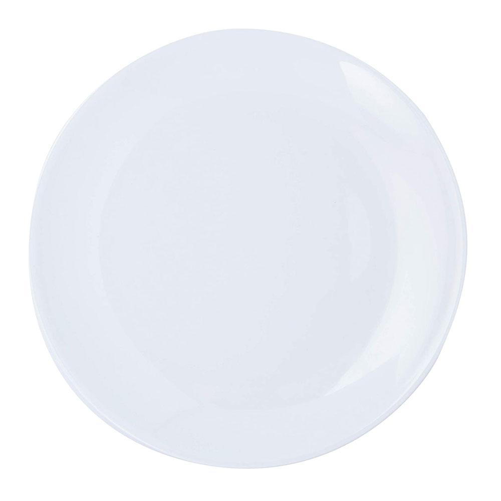 Prato Redondo Brinox Em Melamina 28cm Branco Buffet - 51401004