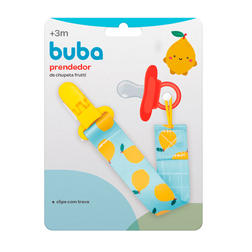 Prendedor de Chupeta Fruta Limão - Buba - 12044