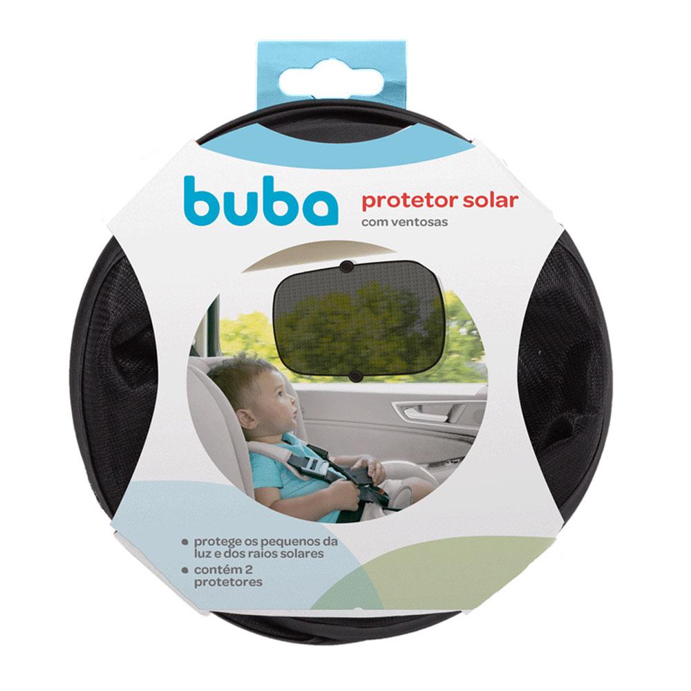 Protetor Solar Para Carro Com Ventosas Preto 2 Unidades - Buba - 10503